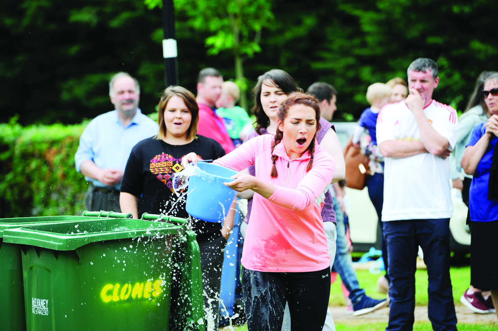 One of the Cassandra Hand Roses taking part in the It's A Knockout at the Clones Canal Festival. ©Rory Geary/The Northern Standard