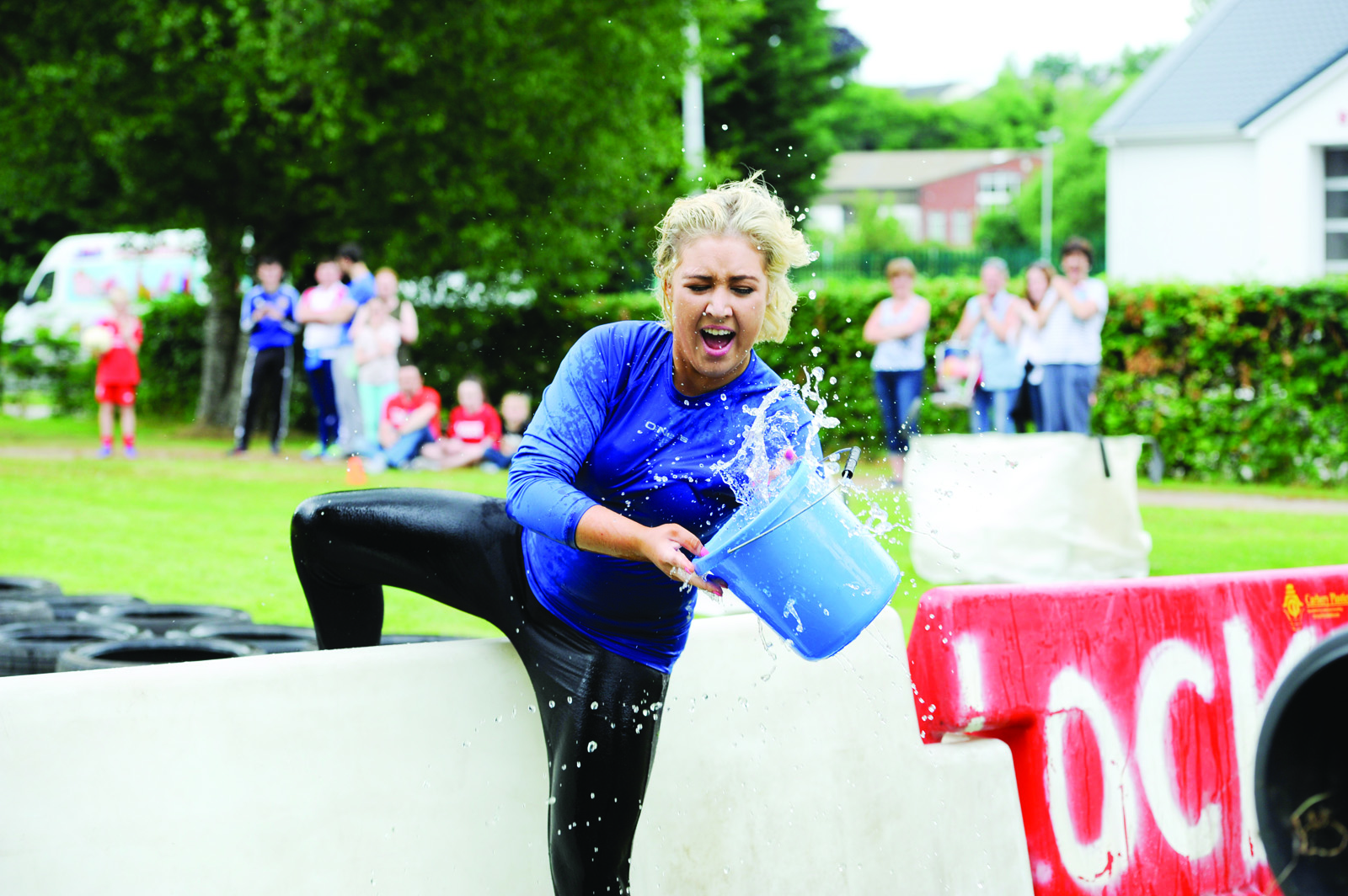 Natasha Nolan, one of the Cassandra Hand Rose selection, taking part in the It's A Knockout. ©Rory Geary/The Northern Standard