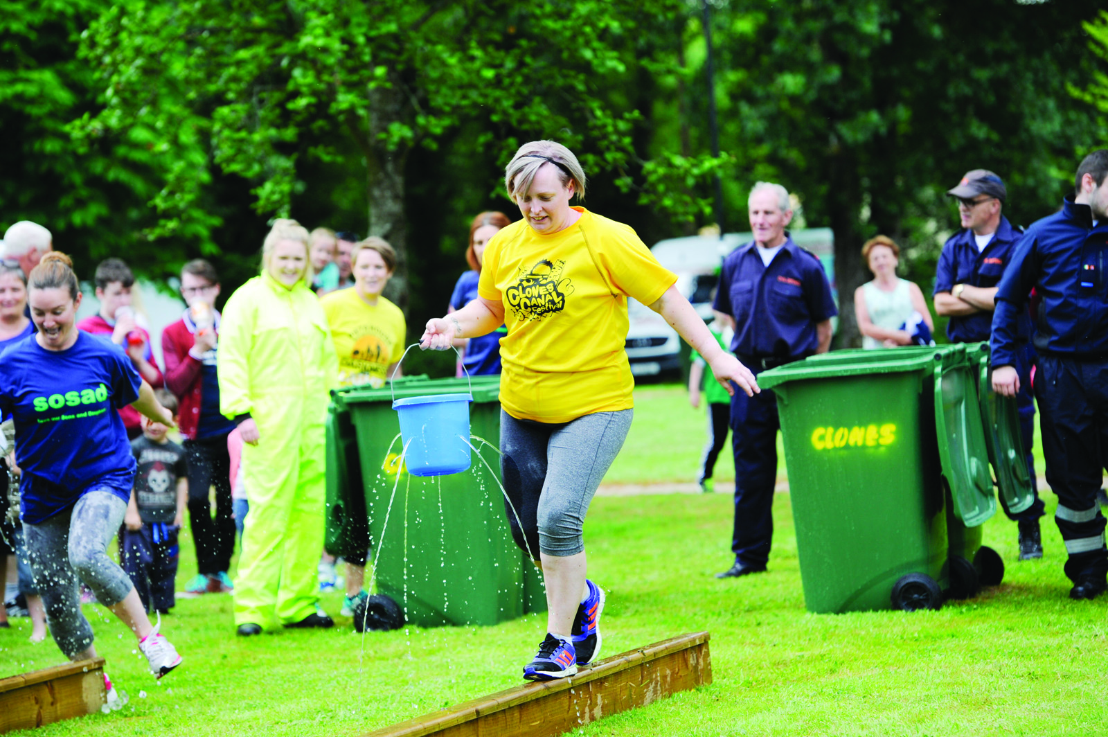 Kelly Ann Douglas from the Trolley Dollies during the It's A Knockout. ©Rory Geary/The Northern Standard