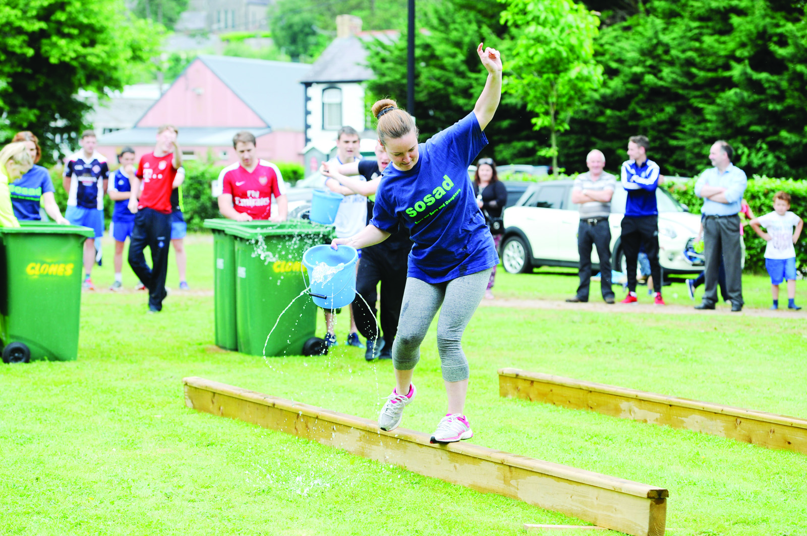 One of the Trolley Dollies team during the Its A Knockout event. ©Rory Geary/The Northern Standard