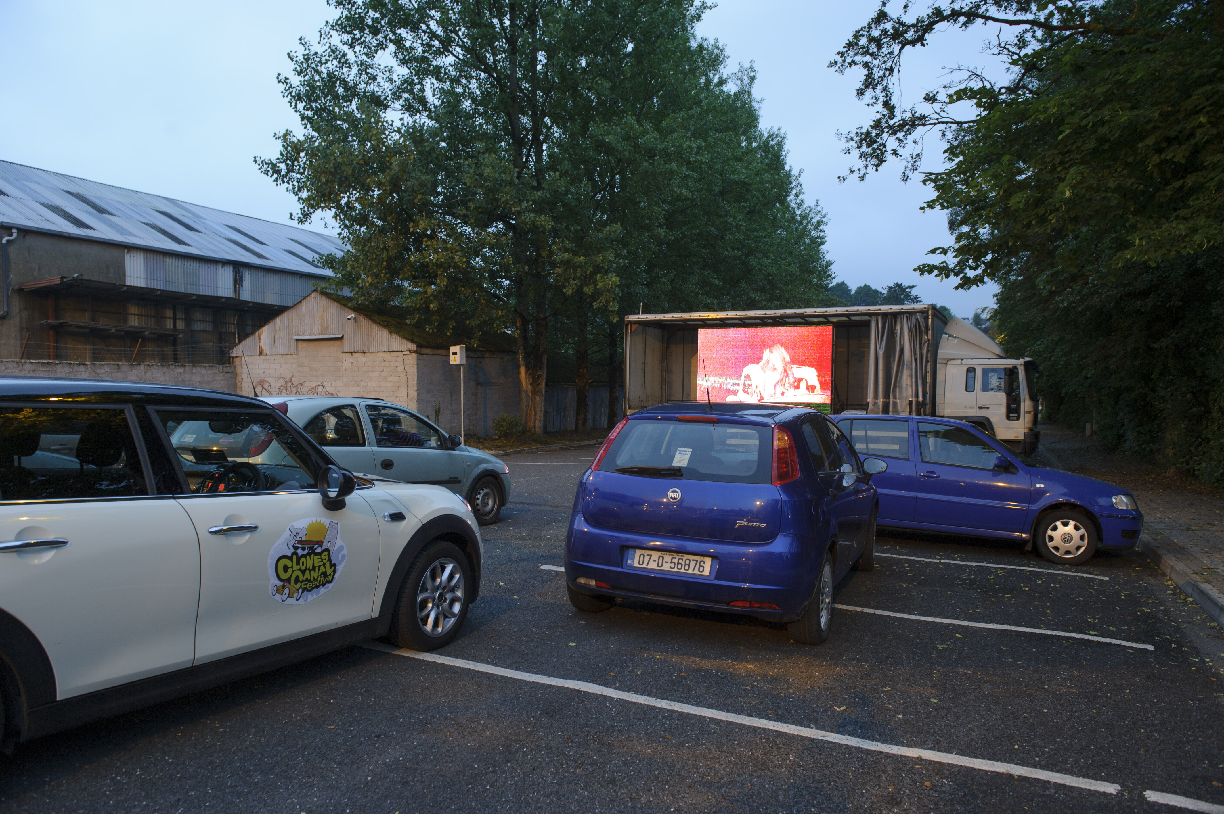 Some of the cars at the drive-in movie Grease at the Clones Canal Festival. ©Rory Geary/The Northern Standard
