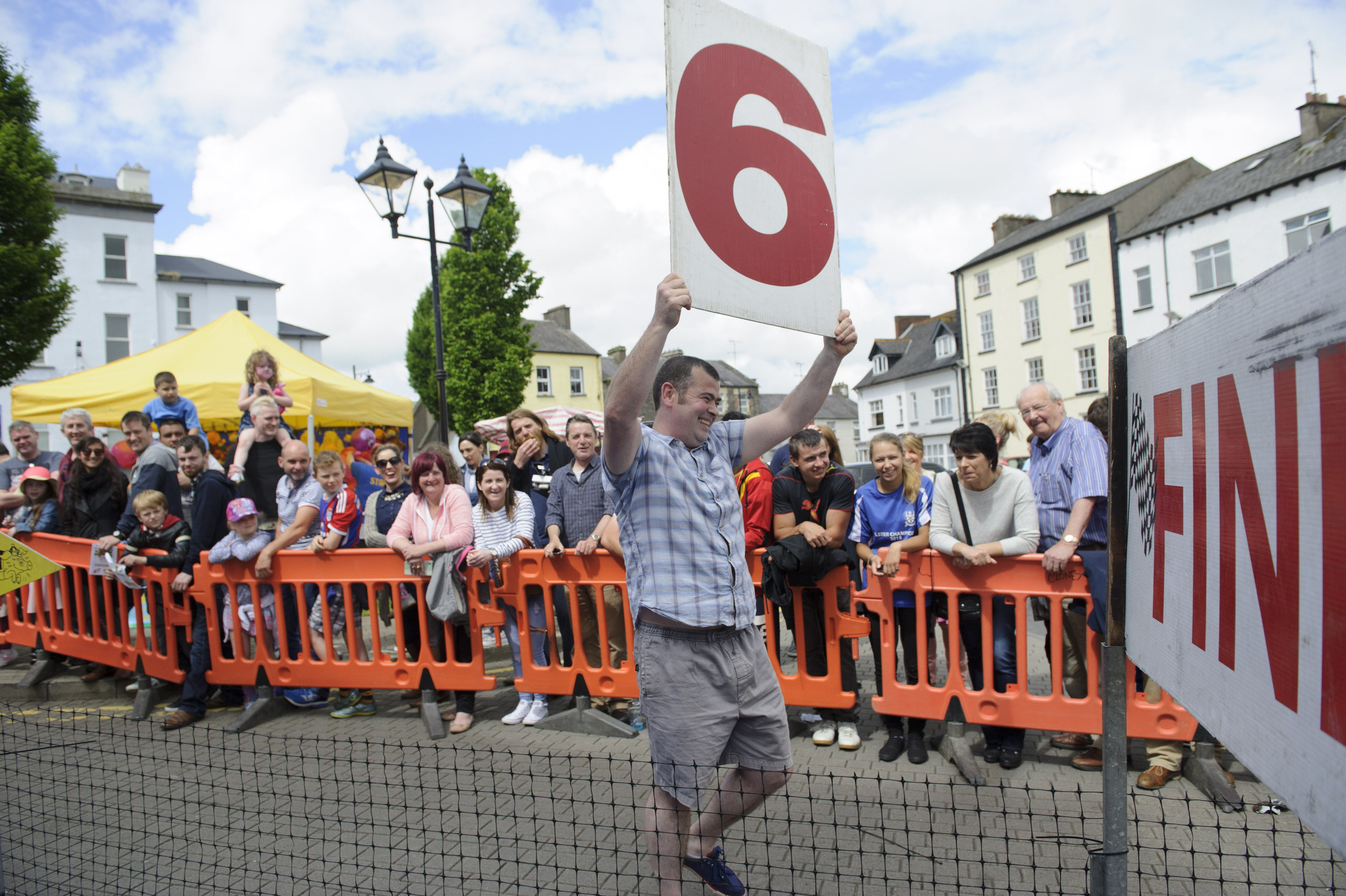 James Sheerin helping with Pig Racing at the Clones Canal Festival. ©Rory Geary/The Northern Standard