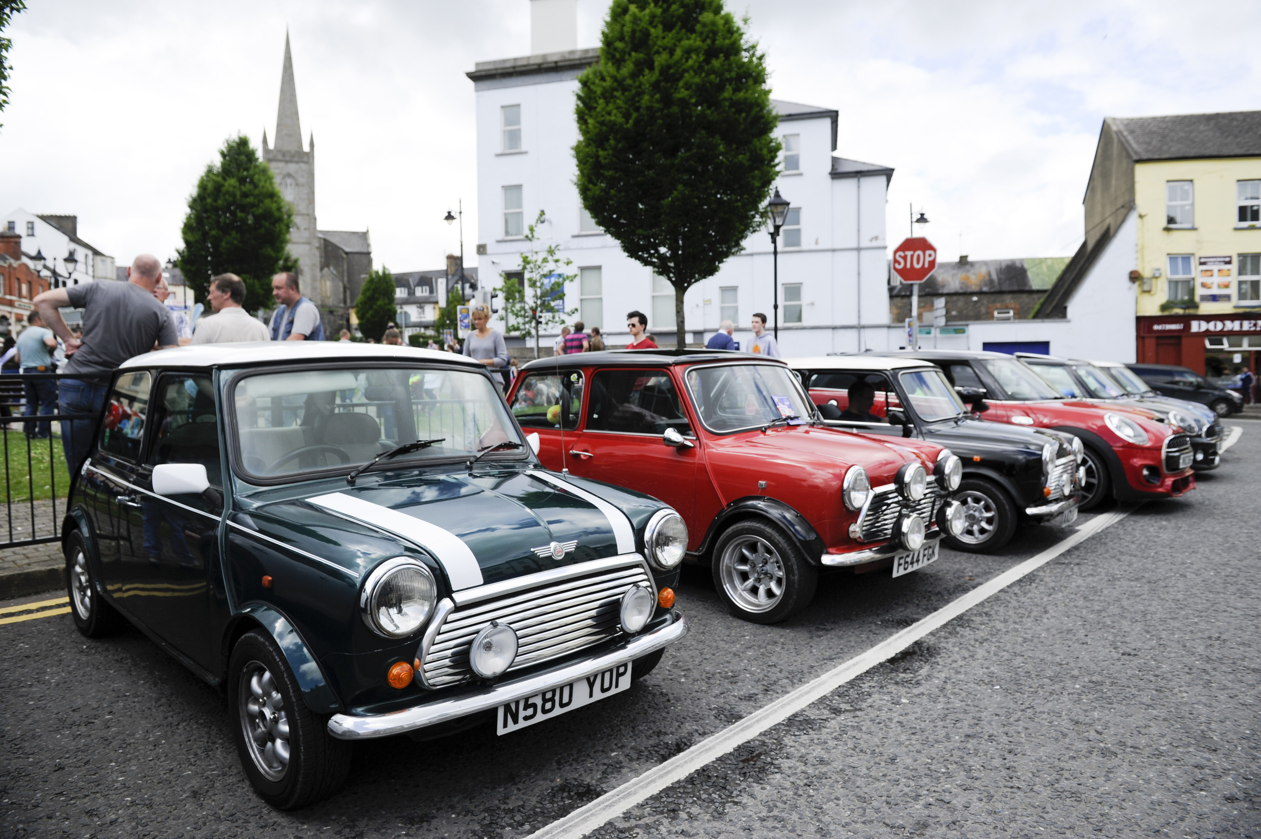 Some of the mini's on display at the Clones Canal Festival. ©Rory Geary/The Northern Standard