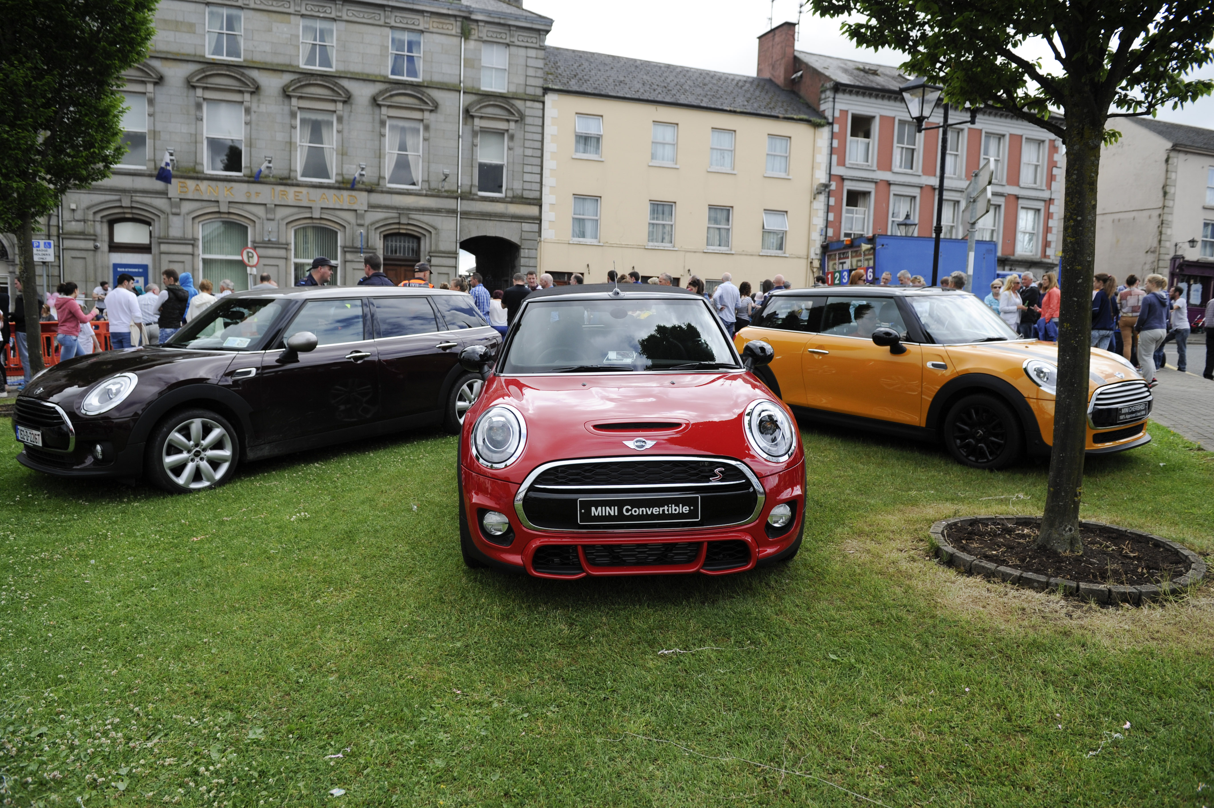 Some of the new mini's on display at the Clones Canal Festival. ©Rory Geary/The Northern Standard