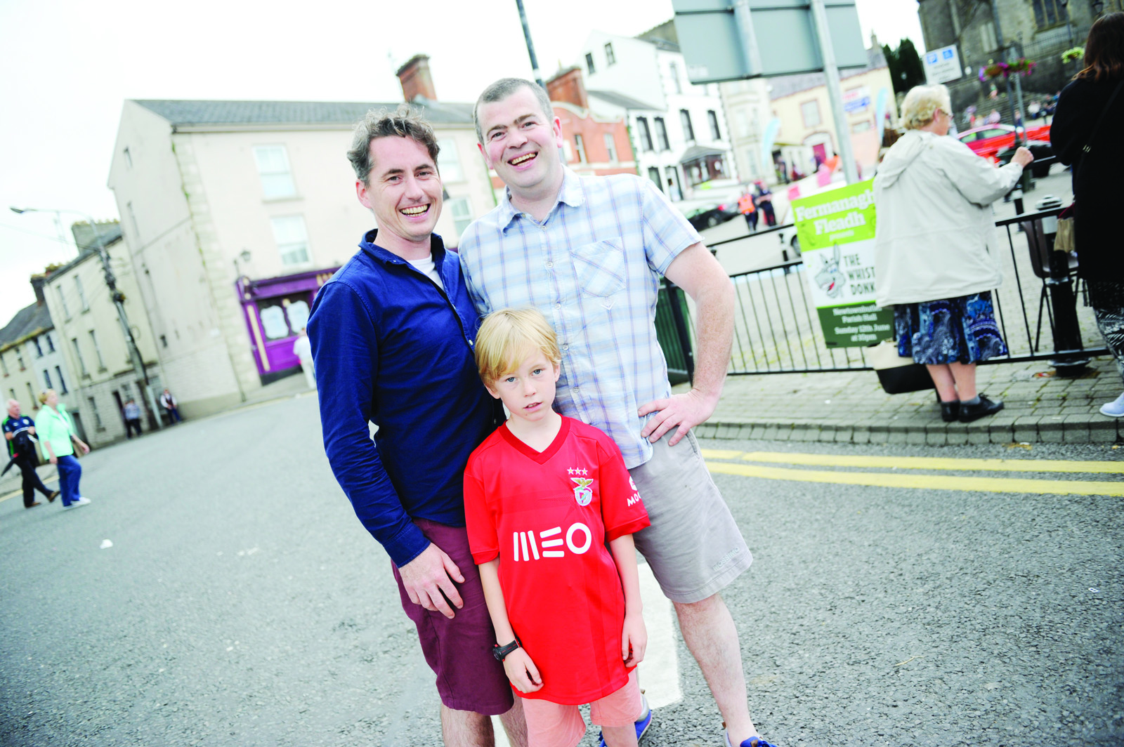 Danny and Patrick McGuigan with James Sheerin at he Clones Canal Festival. ©Rory Geary/The Northern Standard