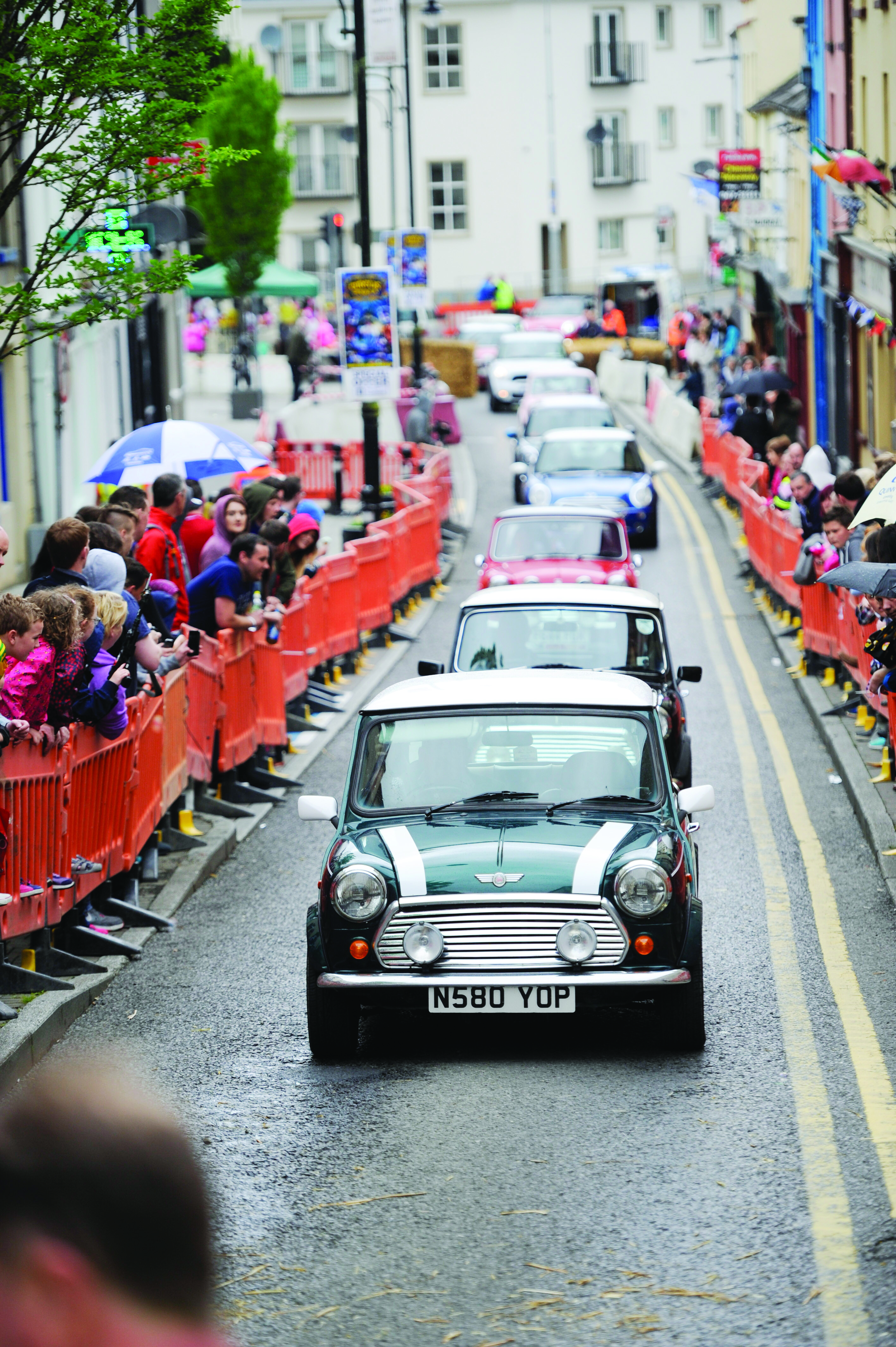 Some of the mini's taking part in the mini-run at the Clones Canal Festival. ©Rory Geary/The Northern Standard