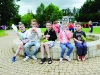 A group of boys taking a break at the Clones Canal Festival. ©Rory Geary/The Northern Standard