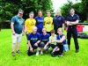 The Trolley Dollies teams who were runners-up in the It's A Knockout with Rory McMahon, left, coordinator. ©Rory Geary/The Northern Standard