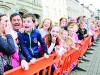 James McManus cheering on his pig at the pig racing at the Clones Canal Festival. ©Rory Geary/The Northern Standard