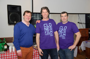 At the opening night of the Clones Film Festival were (L-R) Somhairle Mac Conghail, arts officer, Monaghan County Council, Seamie McMahon, Chairman, Clones Film Festival and James Sheerin, Clones Film Festival. ©Rory Geary/The Northern Standard