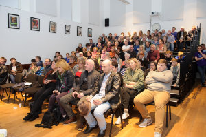 Some of the crowd at the opening night of the Clones Film Festival at Clones Courthouse. ©Rory Geary/The Northern Standard