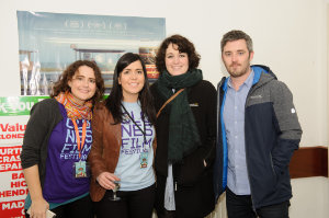 At the closing night of the Clones Film Festival were (L-R) Geraldine Zechner, Paula McQuillian, Andrea Farrelly and Padraig Conaty. ©Rory Geary/The Northern Standard