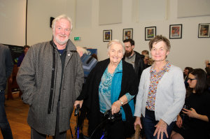 At the Clones Film Festival were (L-R) Darrach McDonald, Mamo McDonald and Kathleen McQuillian. ©Rory Geary/The Northern Standard