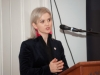 """Shirley Clerkin, Heritage Officer for Monaghan County Council, who was one of the presenters in the film """"Monaghan Gothic"""" speaking at the opening night of the Clones Film Festival at Clones Courthouse. ©Rory Geary/The Northern Standard"""