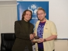 """Pawel Kleszczewski, left, making the presentation of the Best Short Ficton / Experimental Francie to Dave Thorpe for """"Leap of Faith"""". ©Rory Geary/The Northern Standard"""