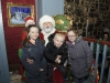 Eva, Keegan and Phoebe Mai Craig with Santa when he visited The Creighton Hotel, Clones. ©Rory Geary/The Northern Standard