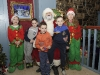 Aaron, Ryan and Adam Smith with Santa in The Creighton Hotel. ©Rory Geary/The Northern Standard