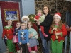 Santa with members of the Crudden family when he visited Clones, last weekend. ©Rory Geary/The Northern Standard