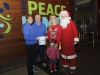 At The Peace Link for the Clones AC Santa run were Ruth Daly and Paul O'Neill, Clones AC, Linda and Lucy McManus, Clones Friends of Hospice and Santa. ©Rory Geary/The Northern Standard