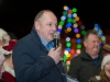 Cllr Sean Gilliland, Ballybay Clones Municipal District, speaking at the switch-on of the Clones Town Christmas lights last Saturday evening. ©Rory Geary/The Northern Standard