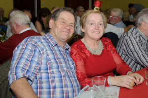 Tony and Margaret at the Clontibret Social Club Christmas Party at the Clontibret Community Centre. ©Rory Geary/The Northern Standard
