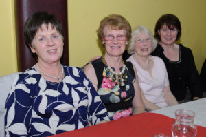 Moira Murray, Margaret Cannon, Aggie Hughes and Breda Curley at the Clontibret Social Club Christmas Party. ©Rory Geary/The Northern Standard