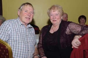 John and Mary Markey at the Clontibret Social Club Christmas Party in the Clontibret Community Centre. ©Rory Geary/The Northern Standard
