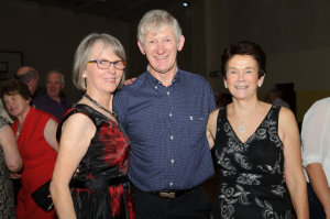 Pictured at the Clontibret Social Club Christmas Party were (L-R) Gretta McDonnell, Paul Reilly and Angela Hannon. ©Rory Geary/The Northern Standard