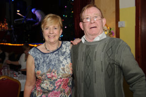 Bridie McKiernan and Mick Wilson at the Clontibret Social Club Christmas Party. ©Rory Geary/The Northern Standard