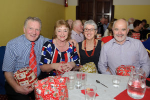 At the Clontibret Social Club Christmas Party were (L-R) Jim and Geraldine McGuirk and Monica and Brian Corr. ©Rory Geary/The Northern Standard