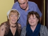 Robert Patterson and Ann McEneaney and Yvonne Cravon at the Clontibret Social Club Christmas Party. ©Rory Geary/The Northern Standard