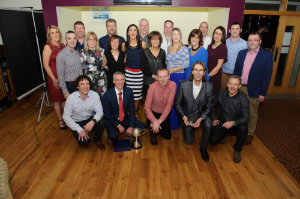 Some of the members of the Blayney Rockets AC, who hosted the Monaghan County Athletics Board awards function in Concra Wood Golf Club. ©Rory Geary/The Northern Standard
