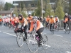 Some of the cyclists taking part in the Cycle Against Suicide as they arrived to St Macartan's College, on Monday evening. ©Rory Geary/The Northern Standard