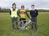 Pictured at St Macartan's College, when the Cycle Against Suicide arrived were (L-R) Karl McKenna, Willie Hillis, Rockcorry and Shane Duffy. ©Rory Geary/The Northern Standard