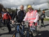 Taking part in the Cycle Against Suicide on Tuesday was David Maxwell, left, with one of the other cyclists. ©Rory Geary/The Northern Standard