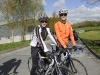 Jason Carragher and Colin Merrick from Our Lady's Secondary School, Castleblayney, who cycled with the Cycle Against Suicide on Tuesday. ©Rory Geary/The Northern Standard