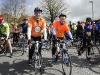 Principal of St Macartan's College, Raymond McHugh, left and Principal of Our Lady's Secondary School, Castleblayney, Eddie Kelly, who both took part in the Cycle Against Suicide on Tuesday. ©Rory Geary/The Northern Standard