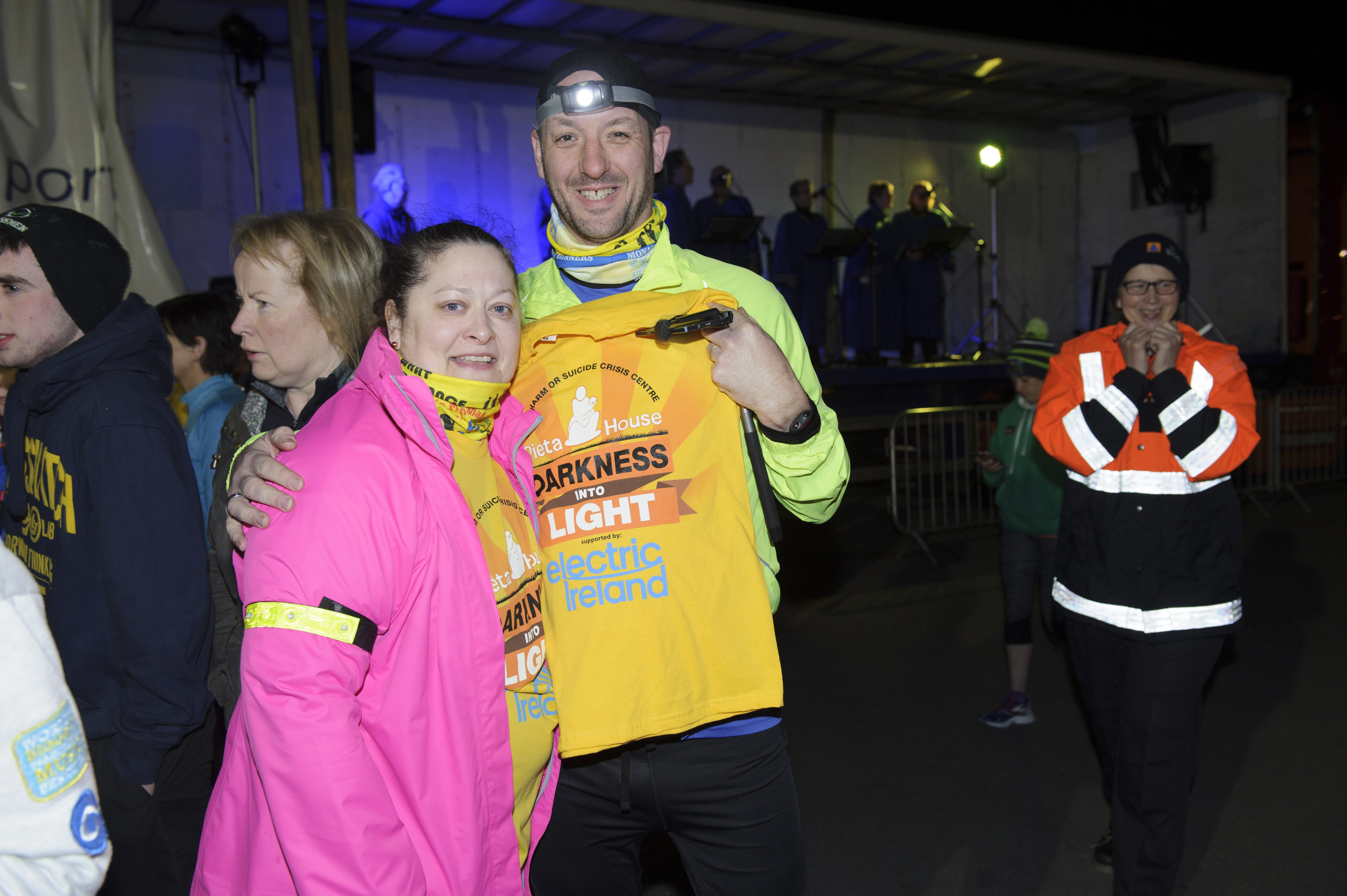 Owen and Suzanne who took part in the Darkness Into Light for Pieta House at the Monaghan Harps GFC. ©Rory Geary/The Northern Standard
