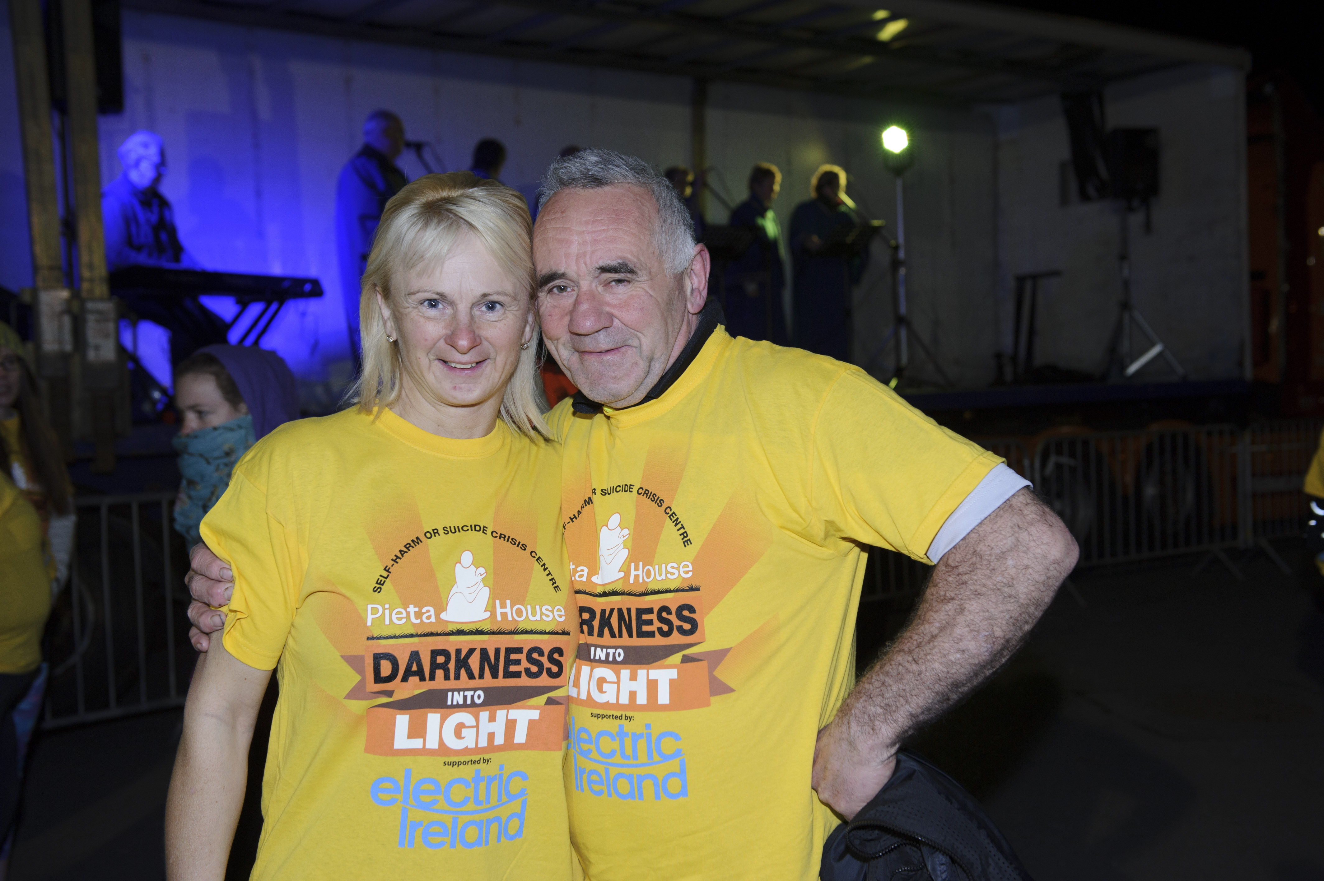 Kay and Joe Kelly from Clogher, at the Darkness Into Light 5k in Monaghan for Pieta House. ©Rory Geary/The Northern Standard