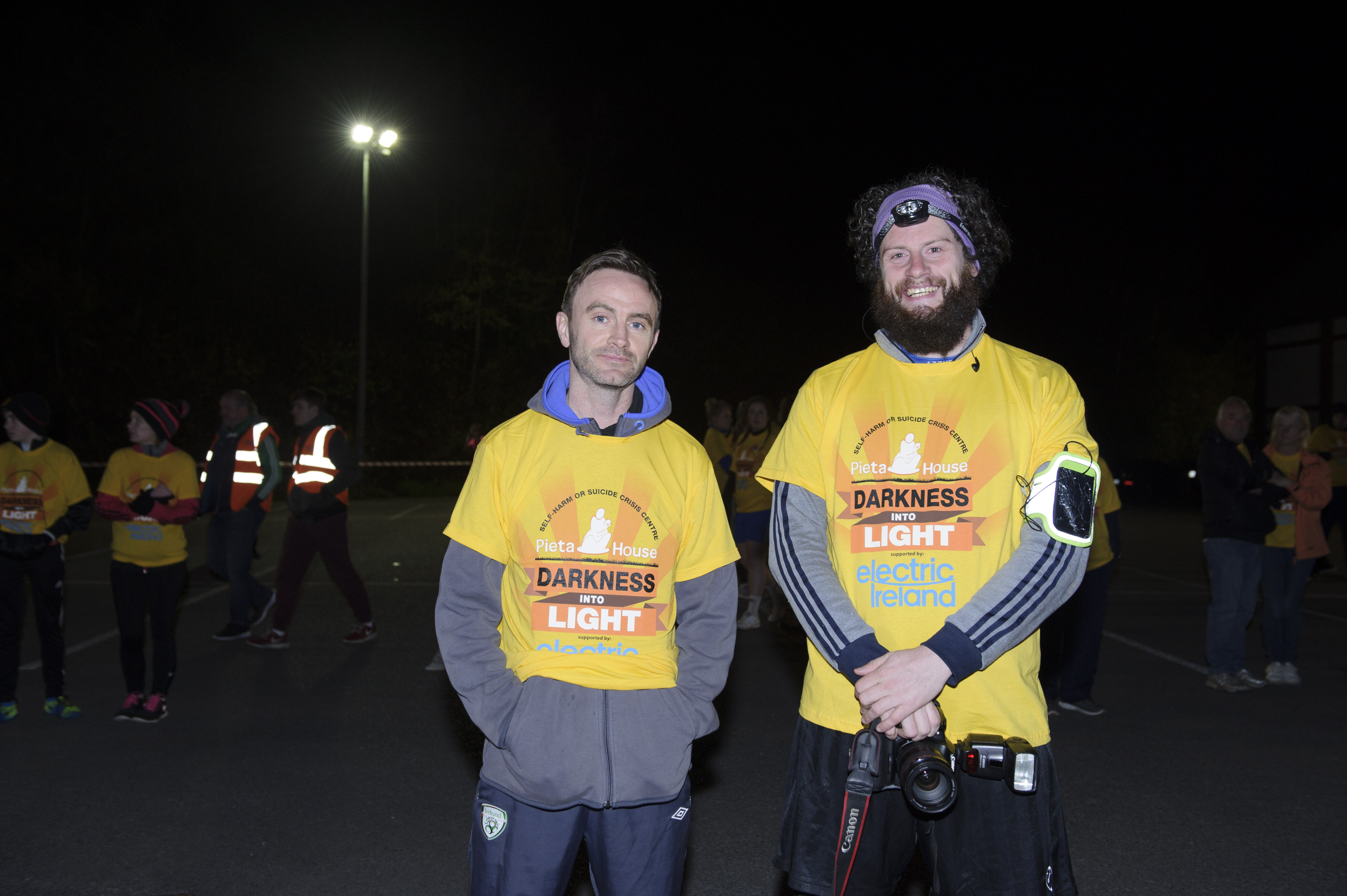 Ronan McKenna and Gabriel Murphy at the Darkness Into Light 5k in Monaghan for Pieta House. ©Rory Geary/The Northern Standard