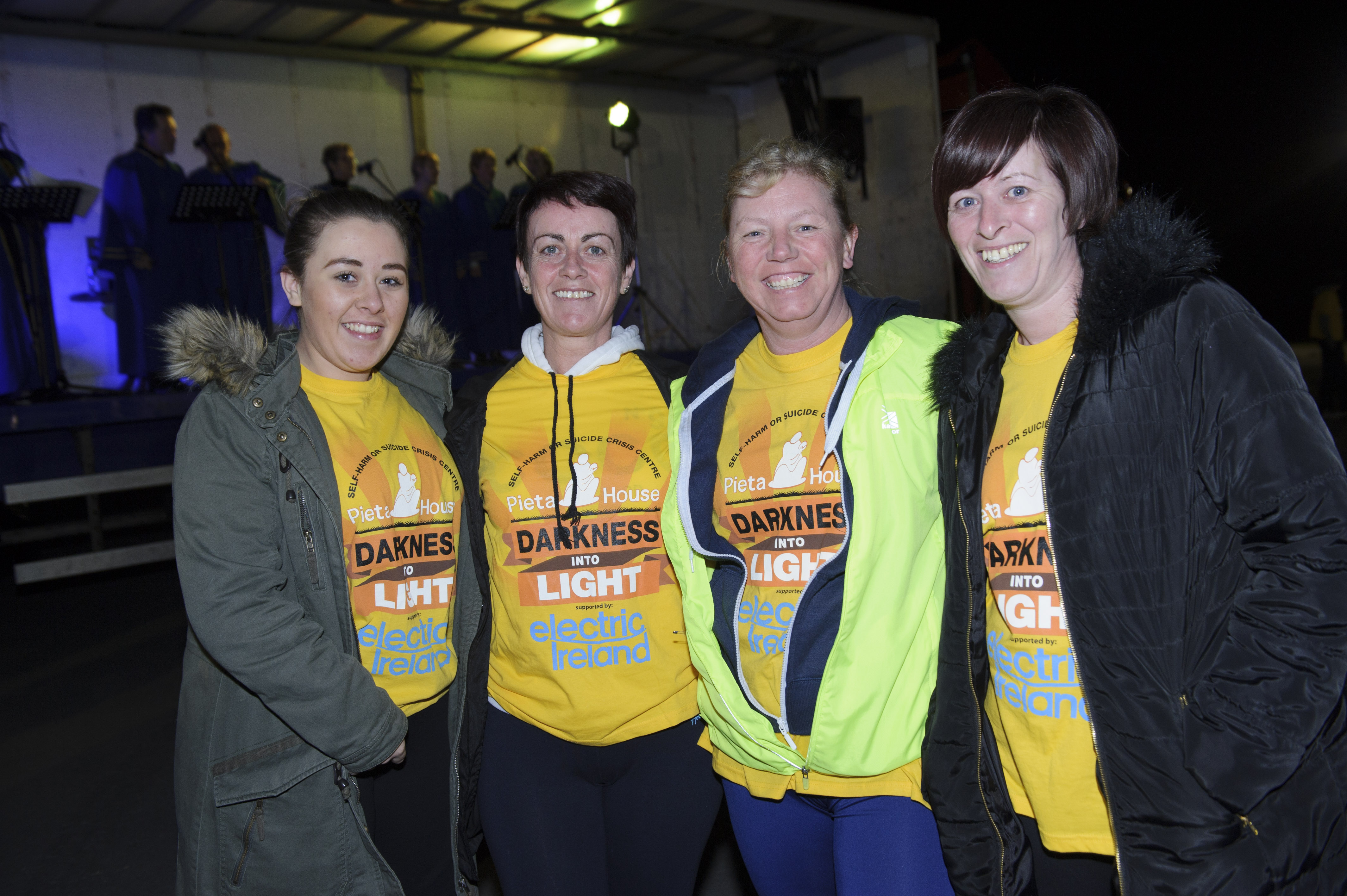 At the Darkness Into Light 5k for Pieta House were (L-R) Kaitlin Reavey, Realene Behan, Tracey Kierans-Sewell and Marie Brady. ©Rory Geary/The Northern Standard