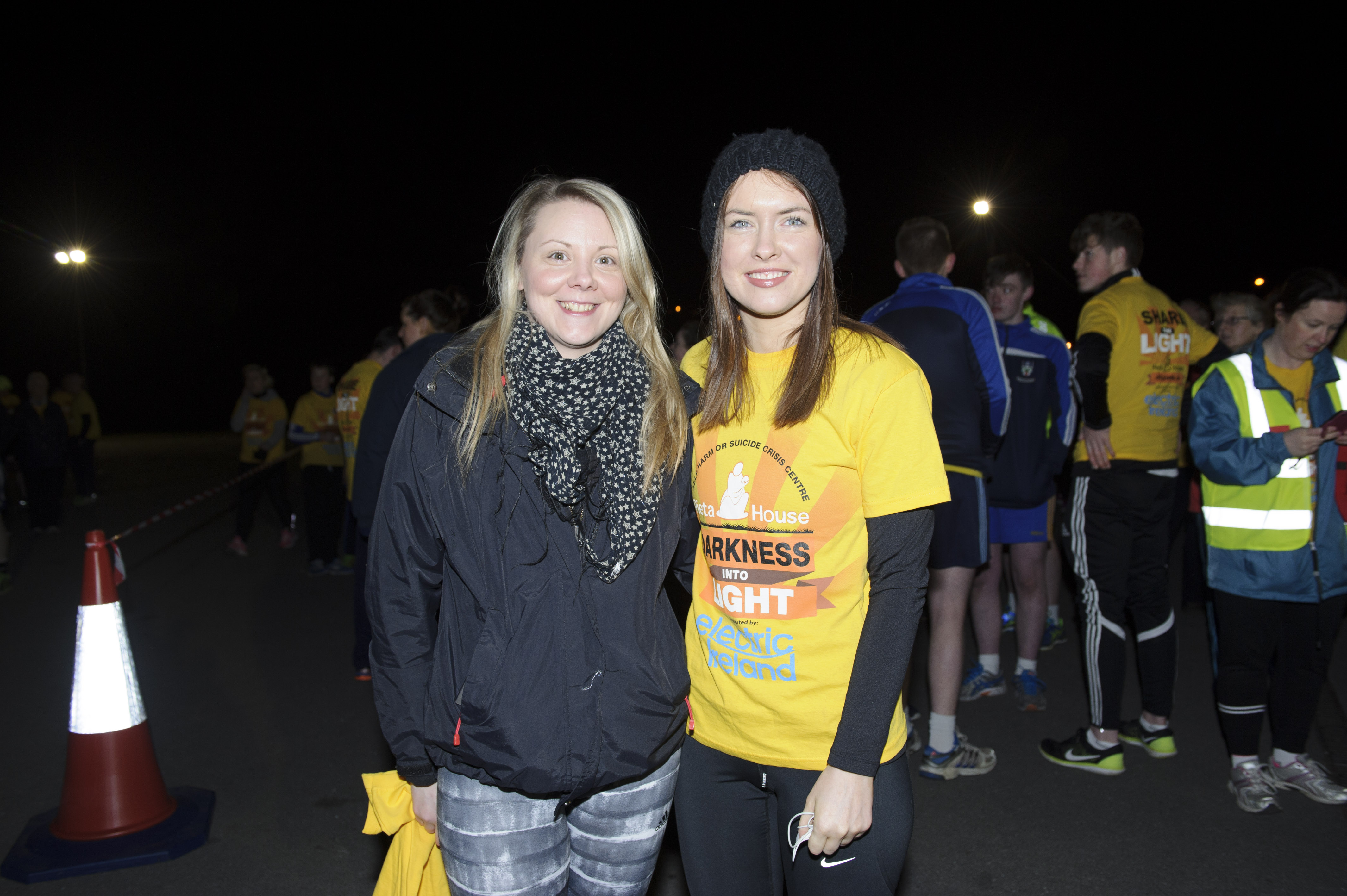 Emma O'Hara and Aideen Kerr at the Darkness Into Light 5k for Pieta House. ©Rory Geary/The Northern Standard