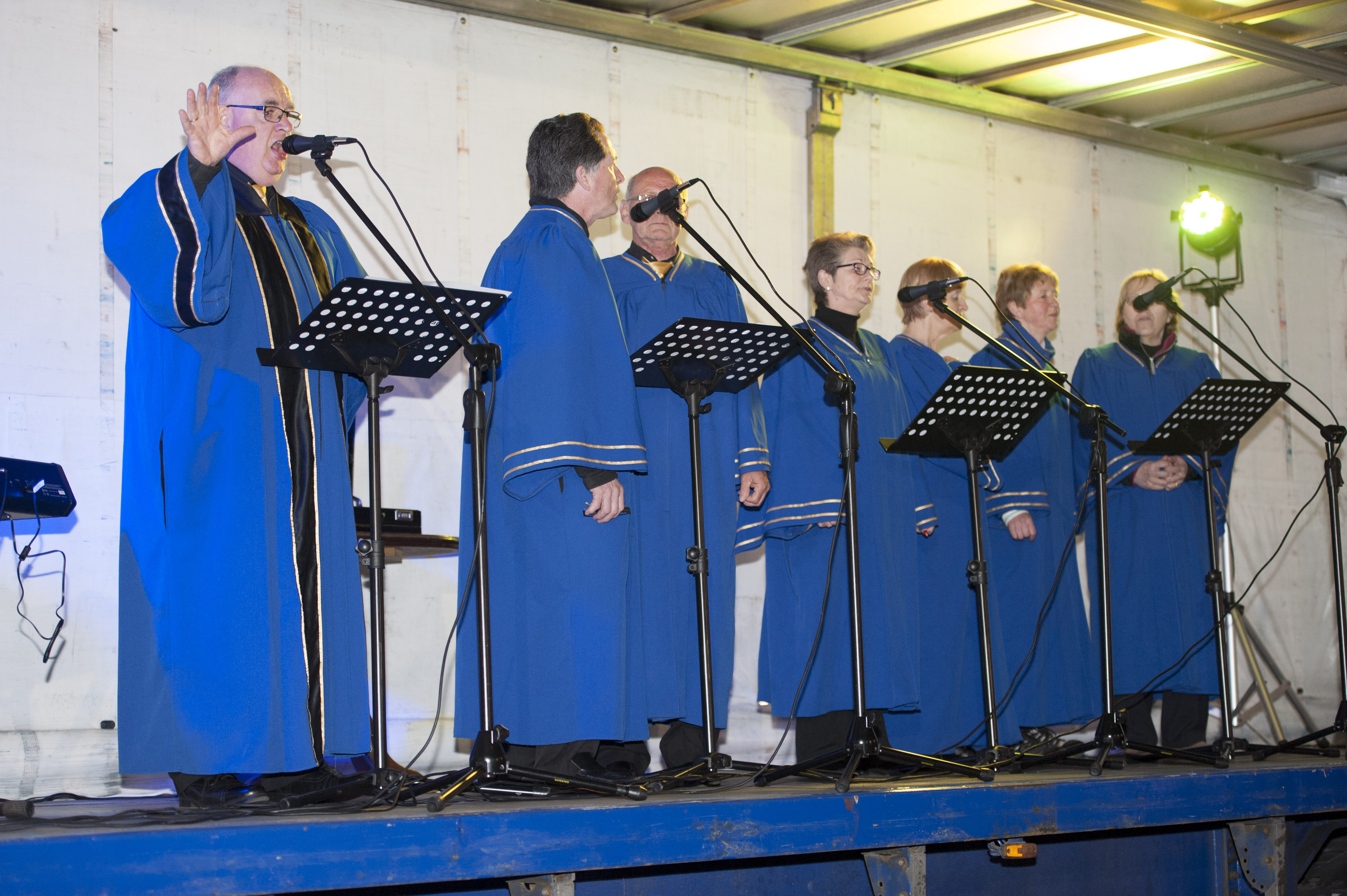 Members of the Monaghan Gospel Choir singing at the Darkness Into Light for Pieta House which was held at the Monaghan Harps GFC. ©Rory Geary/The Northern Standard