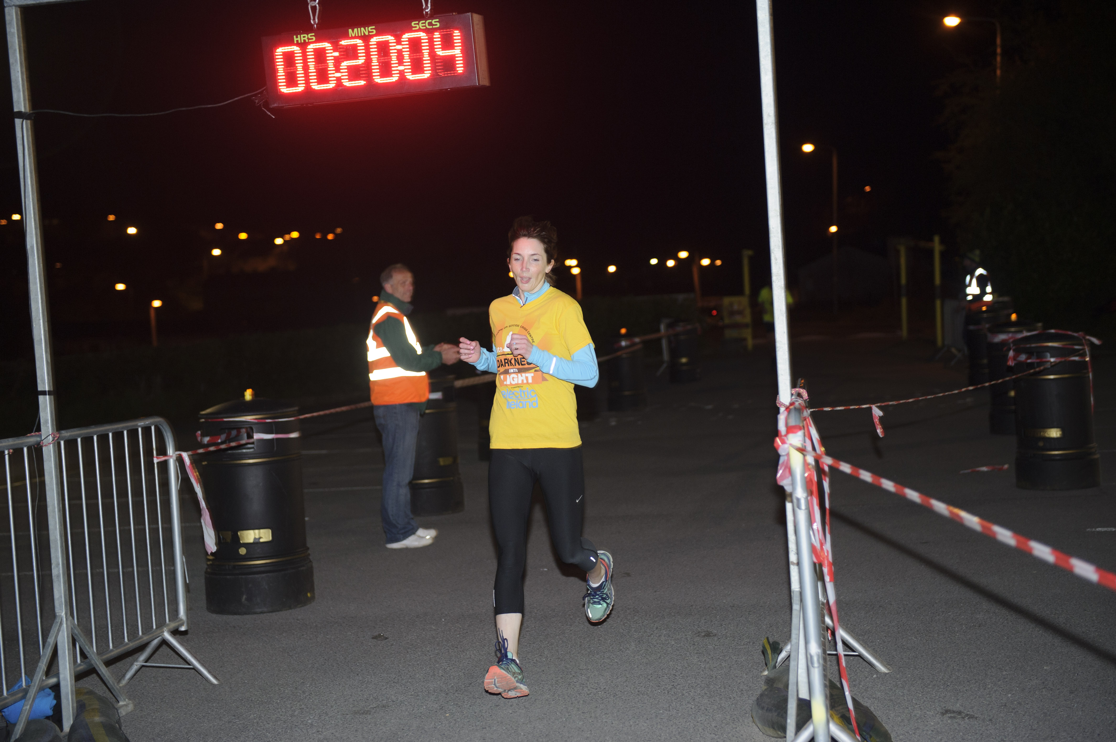 Donna Moen, who was the first lady to finish the Darkness Into Light 5 in Monaghan. ©Rory Geary/The Northern Standard