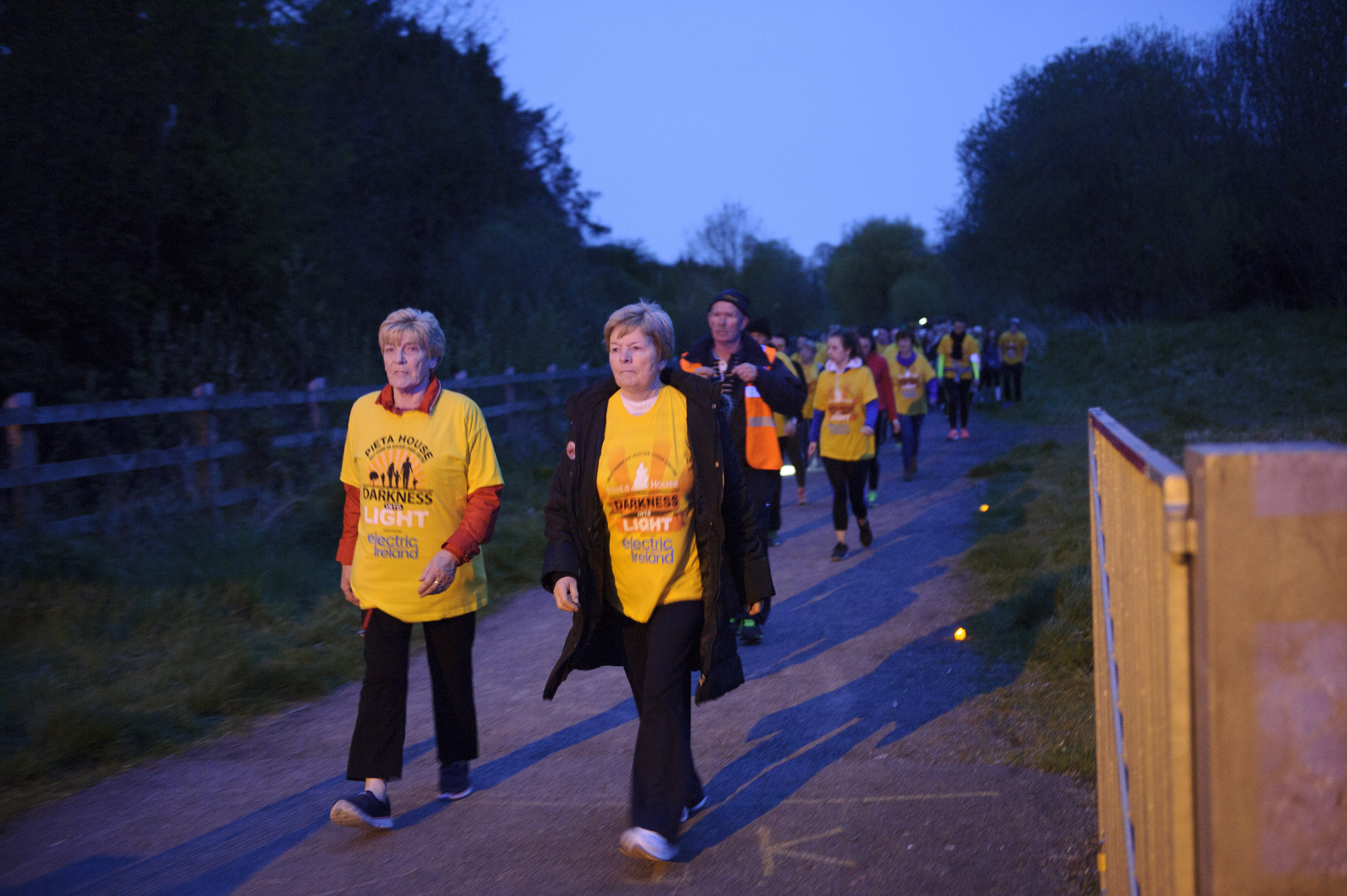 Some of the group that took part in the Darkness Into Light for Pieta House. ©Rory Geary/The Northern Standard
