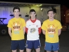 The first three to finish the Monaghan Darkness Into Light were (L-R) Lorcan O'Rourke, 2nd, Anthony O'Brien, 1st and Sean Ryan McCaffrey, 3rd. ©Rory Geary/The Northern Standard
