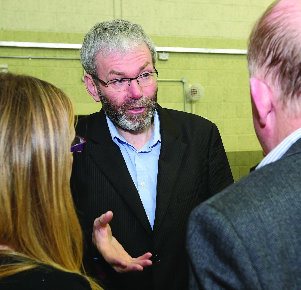 Whistleblower John Wilson at the Cavan-Monaghan Count Centre.  Pic.  Pat Byrne.