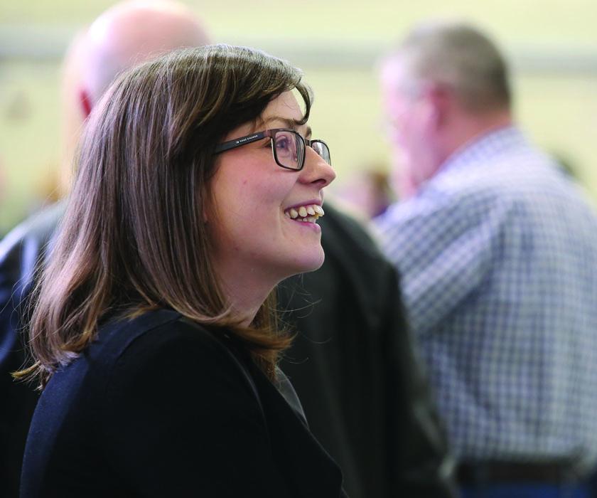 Kathryn Reilly Sinn Fein at the Cavan-Monaghan Count Centre on Saturday last.  Pic.  Pat Byrne.