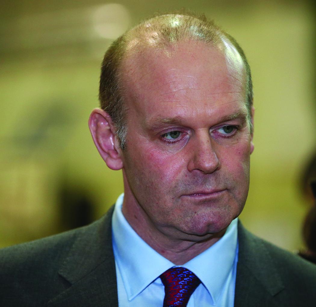 Senator Diarmuid Wilson at the Cavan-Monaghan Count Centre.  Pic.  Pat Byrne.