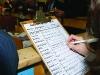 A tally sheet at the Cavan-Monaghan Count Centre on Saturday morning last.  Pic.  Pat Byrne.